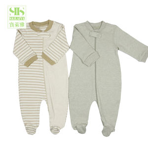 SIIS green 100% organic cotton baby sleepsuit baby romper set clothes