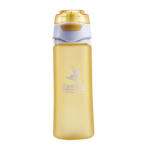 600ml 630ml plastic red frosted sports water bottle with filter cap