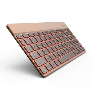 Ultra-slim Mini Bluetooth 3.0 Draadloze Aluminium Toetsenbord voor Macbook iPad Android Tablet Win7