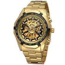 2020 China Skeleton Wholesale Automatic mechanical Gold Men Skeleton Stainless Steel Imported Watches