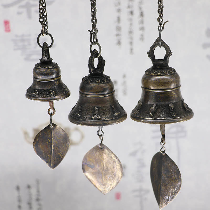 Nepal Buddha Bell Blessing Feng Shui Wind Chime Bell for Good Luck Fortune Home Car Hanging Decor Gift Crafts