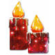 decorative flameless lantern pillar LED light wax holder candle