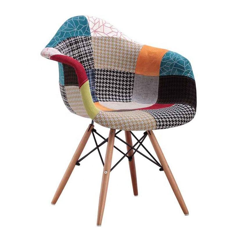 Cheap Comfortable Modern Designer Fabric Chair Living Room Furniture Armchair Patchwork Leisure Chair For Sale