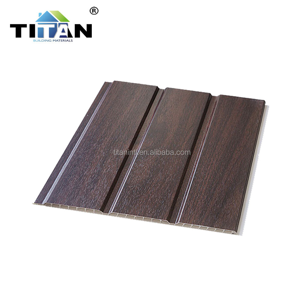 30cm panel de pared de pvc Wood Laminated Bathroom Price PVC Wall Panel
