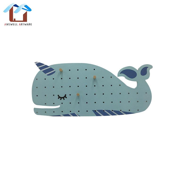 Patrón personalizado Ballena Azul de madera de forma de la <span class=keywords><strong>casa</strong></span> decorativa lindo de madera de tablero para niños