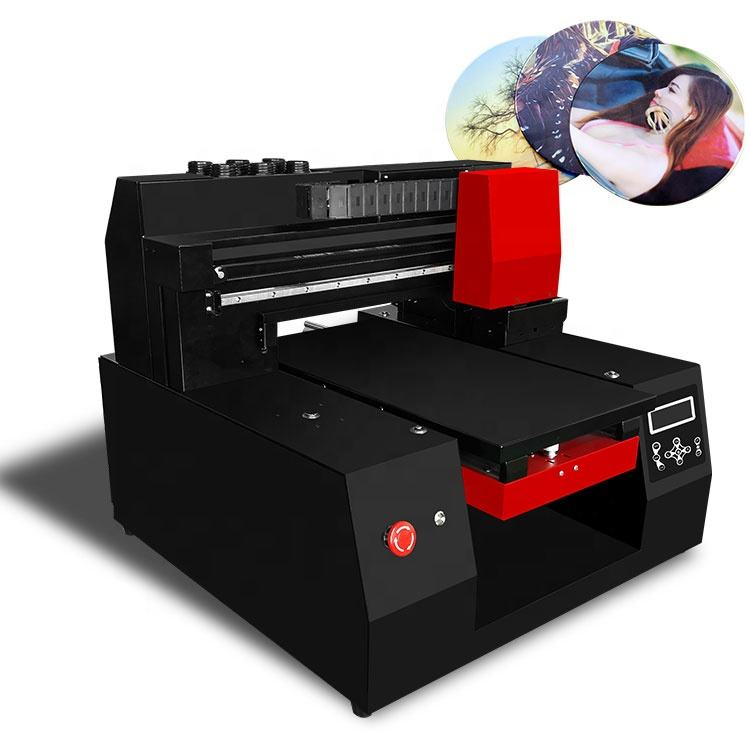 RF3360 Terbaik A3 UV Printer Flatbed CD Printer Inkjet dengan Cmykw Pernis Tinta