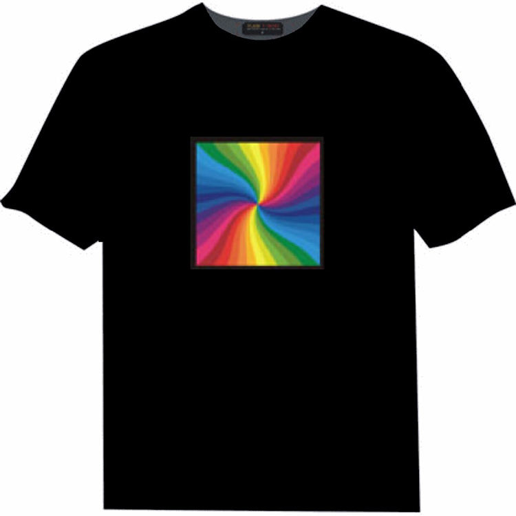 Mode led licht up shirts, led zeppelin shirt, equalizer t-shirt voor vrouwen