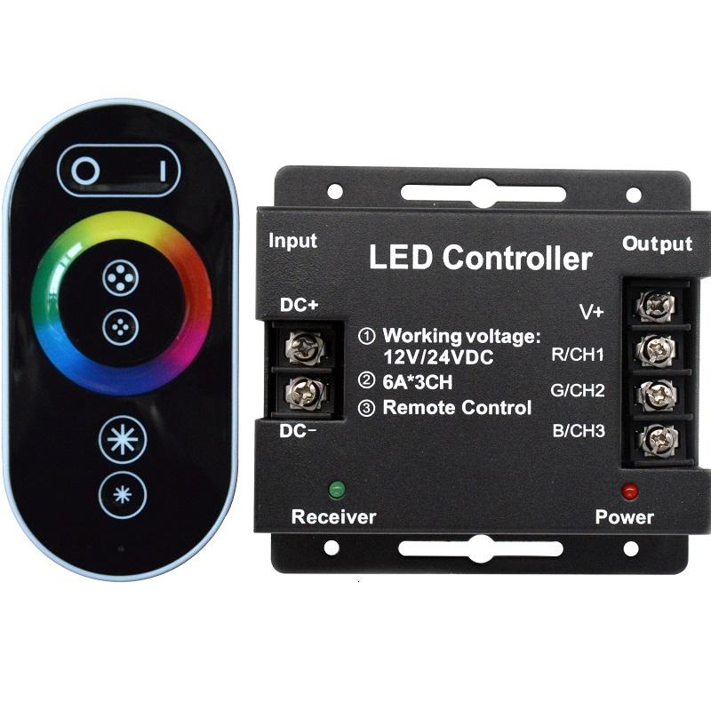 Hot sales Rgb Controller CE RoHs High Power 12Vdc 30A Rgb Led Stripes 433Mhz Rf 6Keys Touch Remote Control Rgb Led Controller