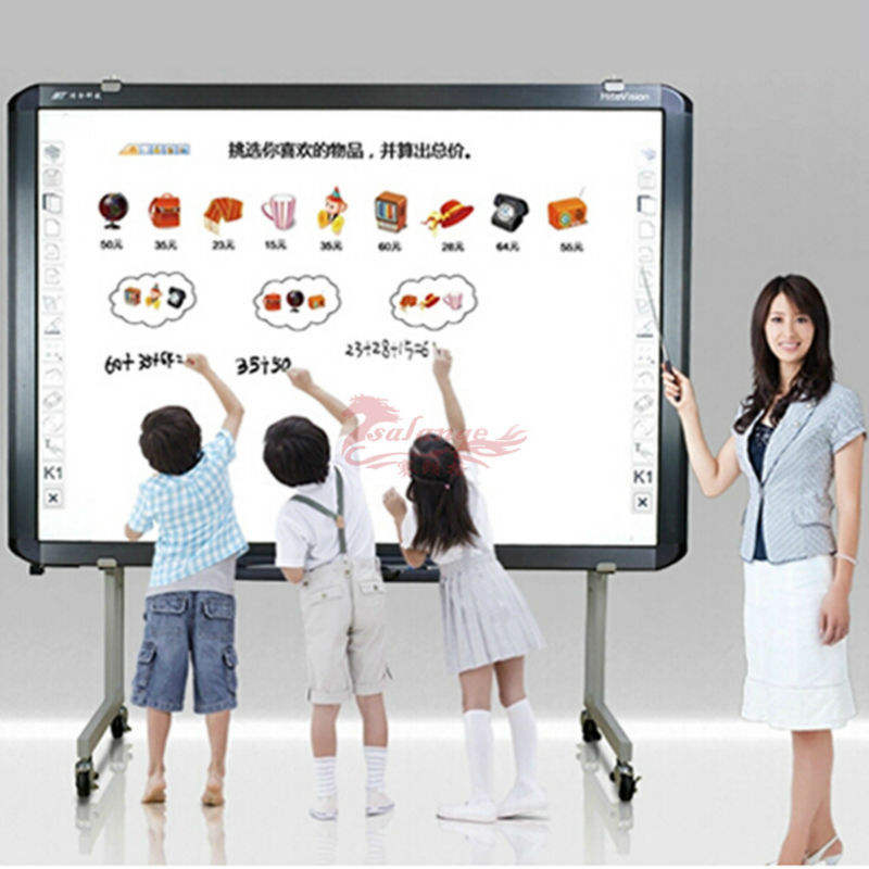 New Multi-touch Point Interactive Whiteboard with Aluminous Frame Optical Whiteboard for Kids Teaching by Salange