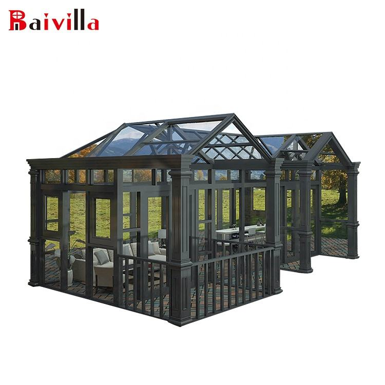 China Aluminum and Tempered Glass Building Customized Prefabricated Houses
