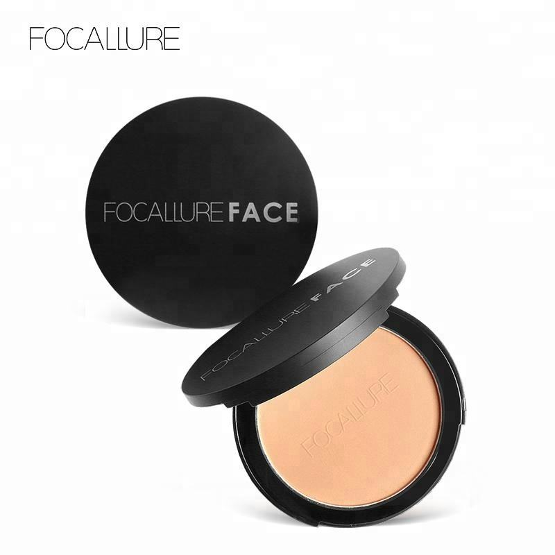 Focallure High Quality Best Makeup Face Cake Pressed Powder Foundation For Oily Skin
