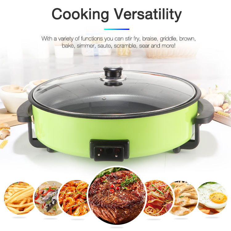 Pan Electric Hot Sale Factory Round Electric Frying Pan 1500W