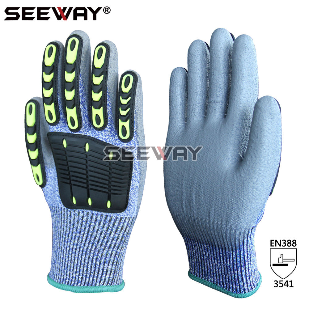 Seeway Impact Gloves TPR Resistant Cut Gloves