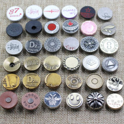 10mm to 25mm alloy rotatable jeans button