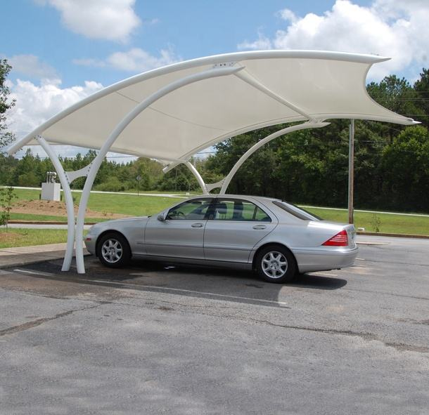 car parking Steel structure shade roofing tensile membrane structure
