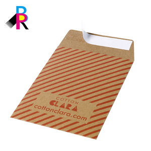 Wholesale Custom logo printed cardboard packaging mailing paper envelope
