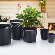 Best price wholesale 15 gallon black nursery pots plastic plant pot