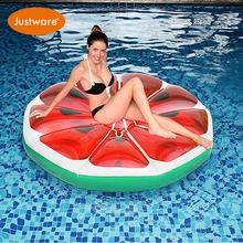 Fruit shaped inflatable pool float mattress round slice watermelon water floating
