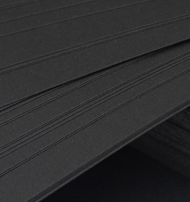 High Quality Paper High Quality Printing Black Card Black Paper To Sell With Reasonable Price