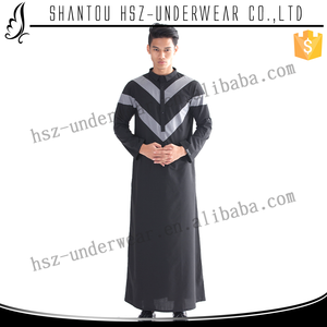 Zakiyyah M002 New Design Muslim Maxi Dress for Men Simple Pattern Kaftan with Special Convenient Sleeves