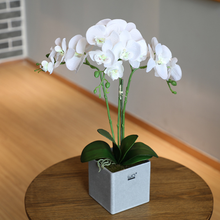 white singapore real touch artificial orchid flower making for decoration