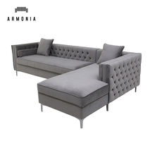 Home furniture American hot selling Living Room L shaped sectional corner sofa