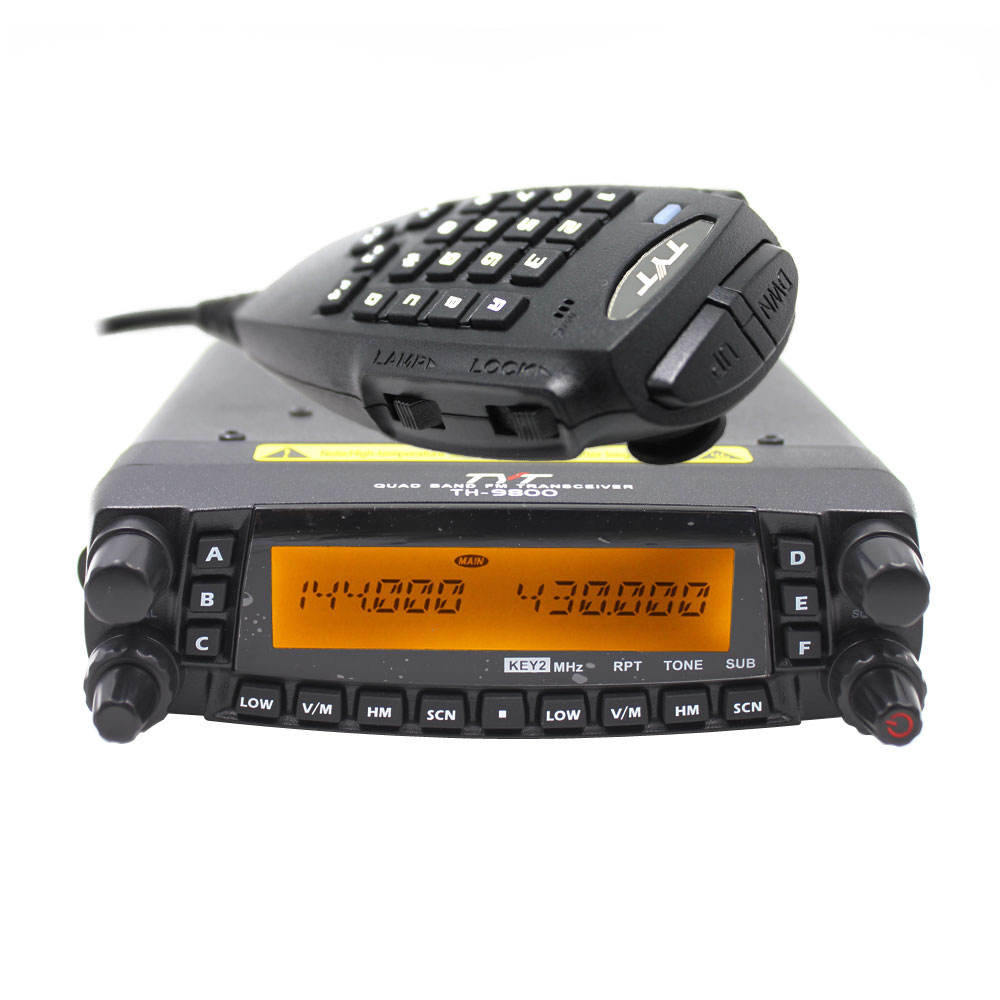 TYT TH 9800 plus 50W PTT Mobile Radio Station Car Walkie Talkie Upgraded TH9800 809CH Dual Display VHF UHF Transceiver