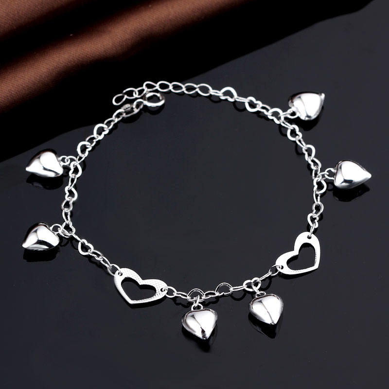 Fashion Friendship Jewelry Design Woman Accessory Custom Logo Wholesale Silver Bracelets Bangle