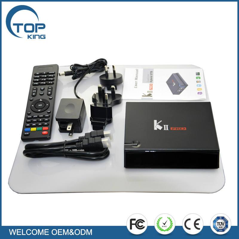 2017 date KII Pro Amlogic S905 DVB S2 T2 Android TV BOX K2 pro Android 5.1 KODI 16.0 2 GB RAM 16 GB ROM Bluetooth 4.0 boîte