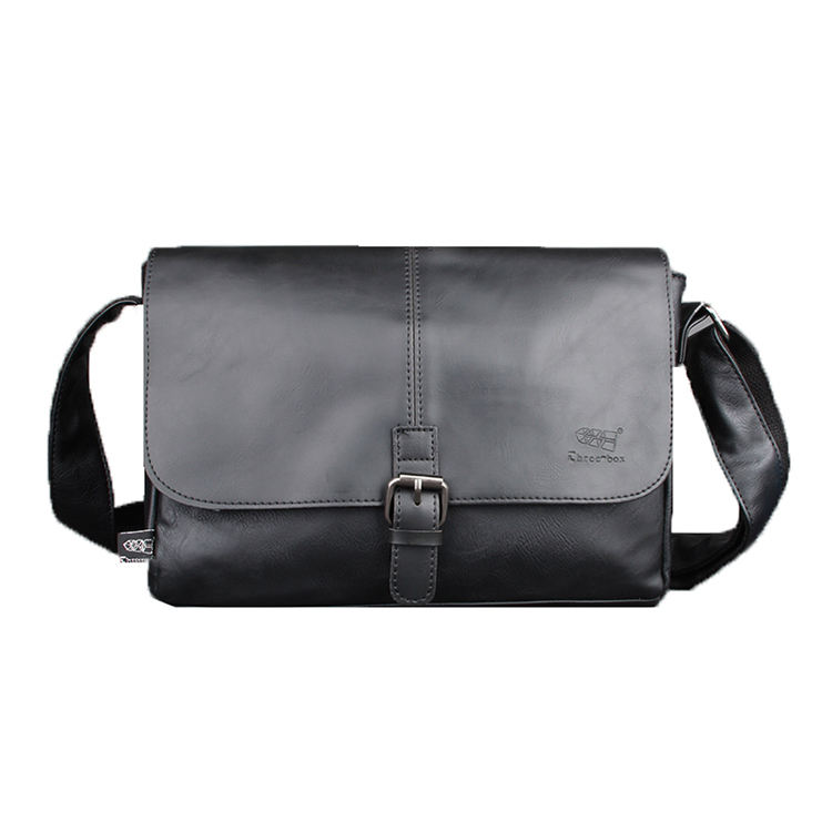 Three-Box Wholesale Custom Flexible Price Men Real Leather Unique Messenger Bag For Boys