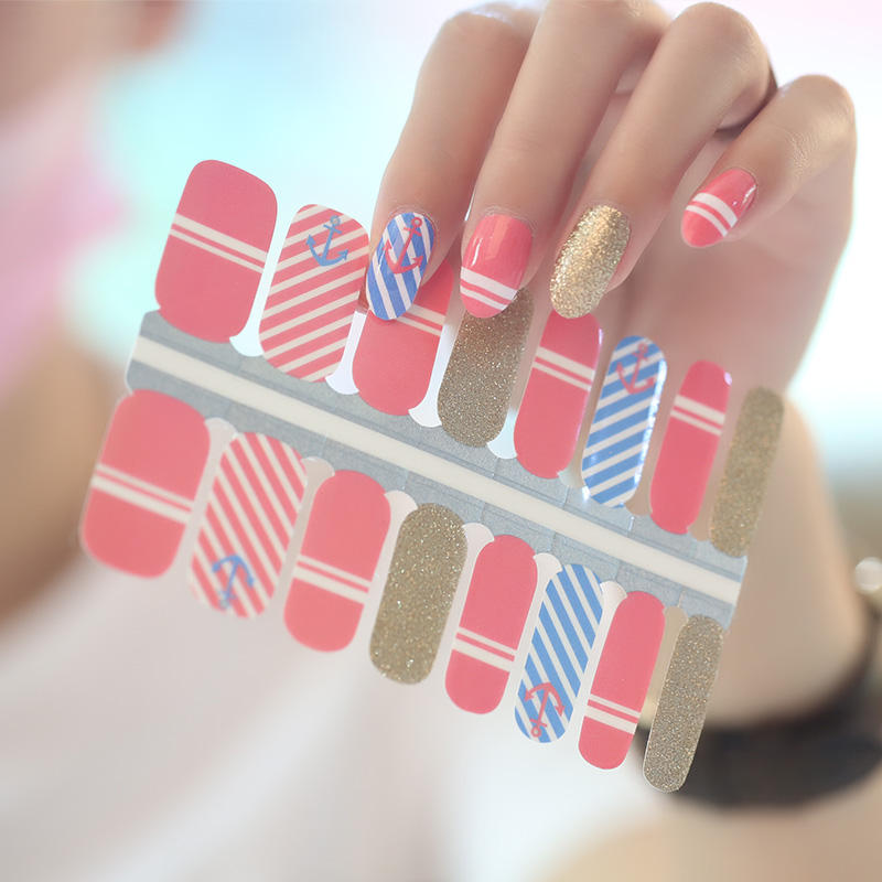 Non-toxic popular special pattern nail stickers, wholesale nail polish custom nail wraps, 3d nail art