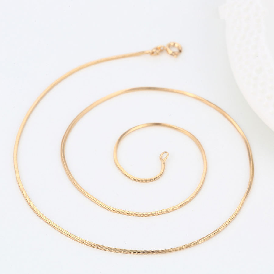43023 Wholesale fashion jewelry brass snake necklace chain gold plated chains