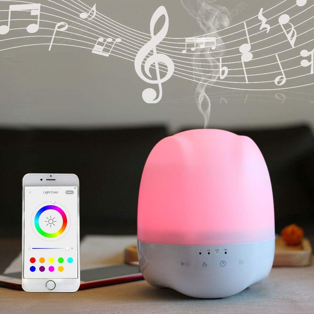 High Quality App control Music player Cool Mist Ultrasonic Humidifier Essential Oil Diffuser