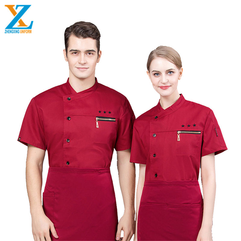 Restaurant shirts met logo custom <span class=keywords><strong>design</strong></span> <span class=keywords><strong>chef</strong></span> uniform prijs