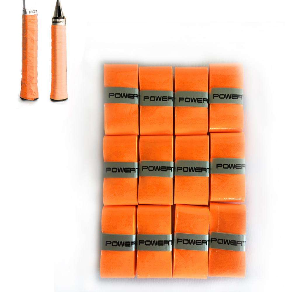 60pcs/Box Orange Color 0.6mm Thin Sweatband Tacky Tennis Badminton Squash Overgrips