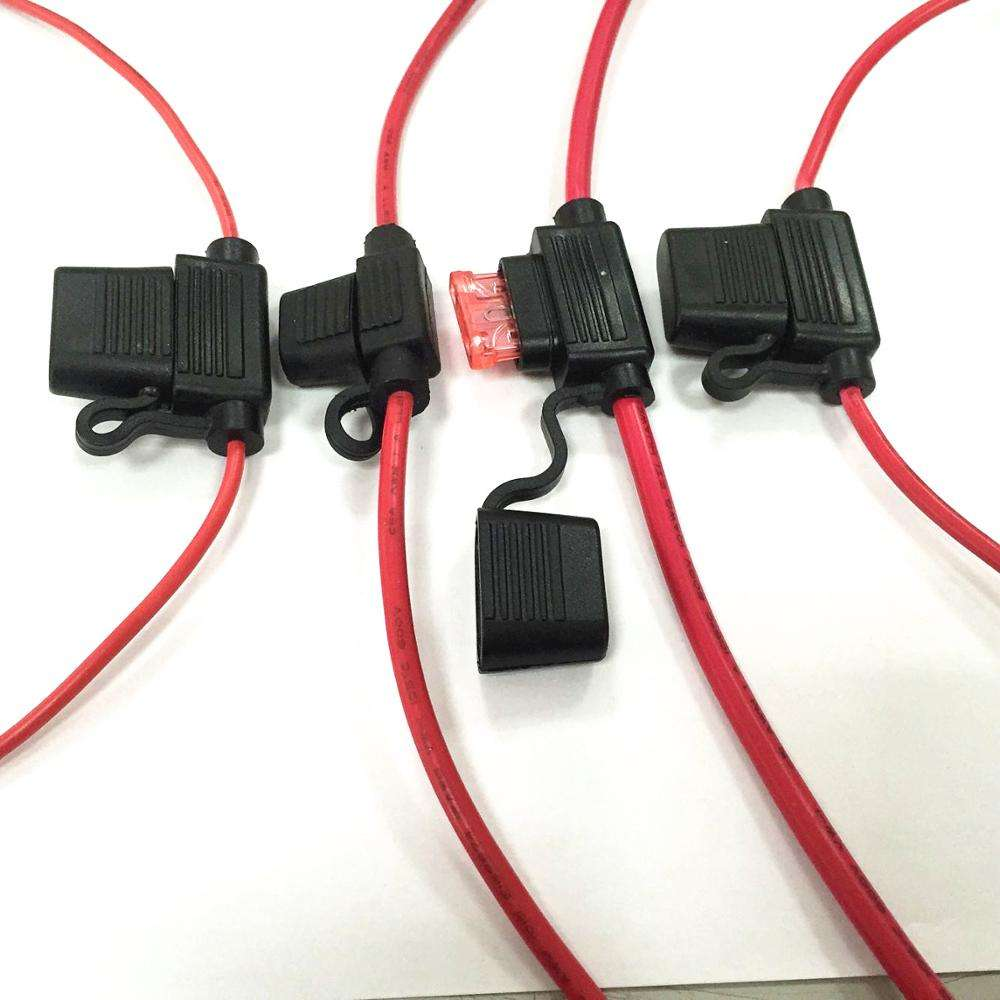 Custom Waterproof In-Line ATO/ATC Fuse Holder/Auto 12V Car Add-a-circuit Fuse TAP Adapter Mini ATM APM