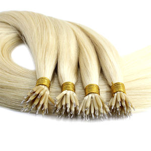 Russian Hair Supplier Double Drawn Virgin Cuticle Intact Nano Hair Extensions