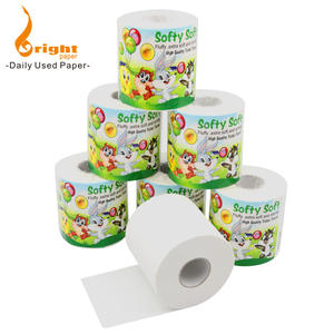 Chinese Cheap Custom Printed Import Recycled Biodegradable Bamboo Toilet Tissue Paper Soft Reel Roll Wholesale Manufacturer
