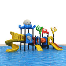 2018 kids water slide latest rhyme of sea sailing series outdoor playground equipment