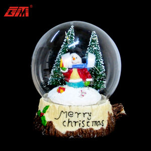 Wholesale custom made battery operated lighted electric christmas glass snow globe