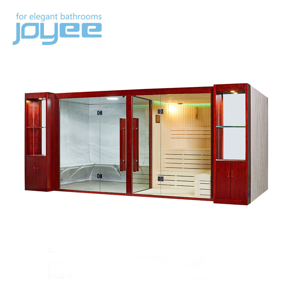 JOYEE big size 10 12 person resort villa outdoor sauna spa infrared sauna and steam combined room