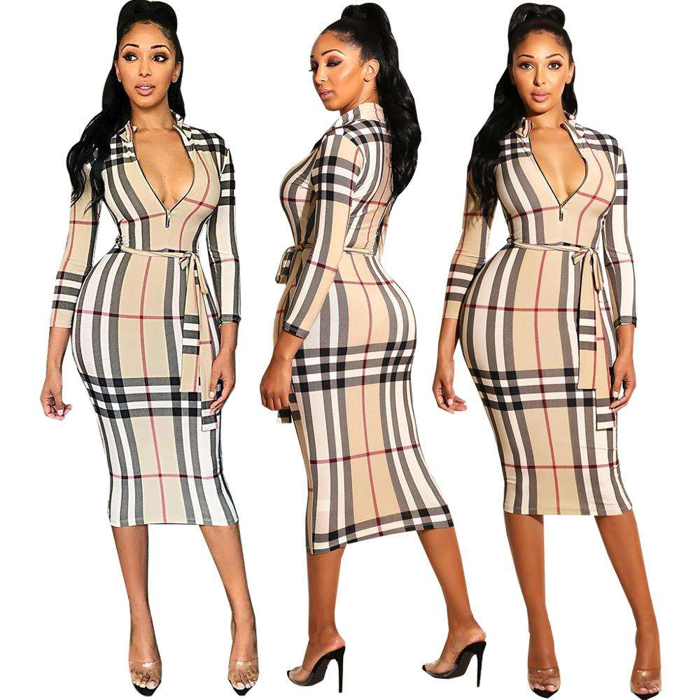 Wholesale MQ3544 New Style Random Stripes Knot Cut Out Bodycon Dress