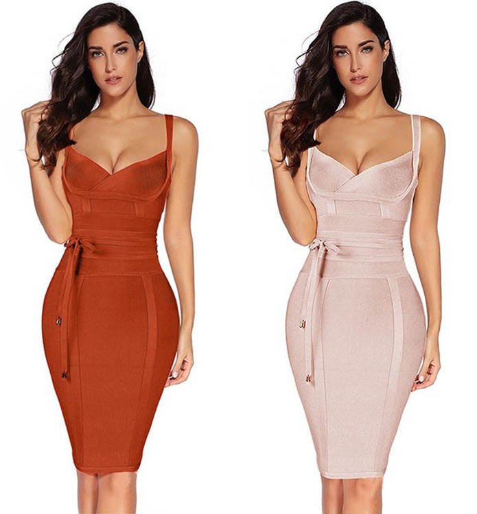Women clothing Sleeveless Cut Out Bustier mujer Clubwear Bandage Dress