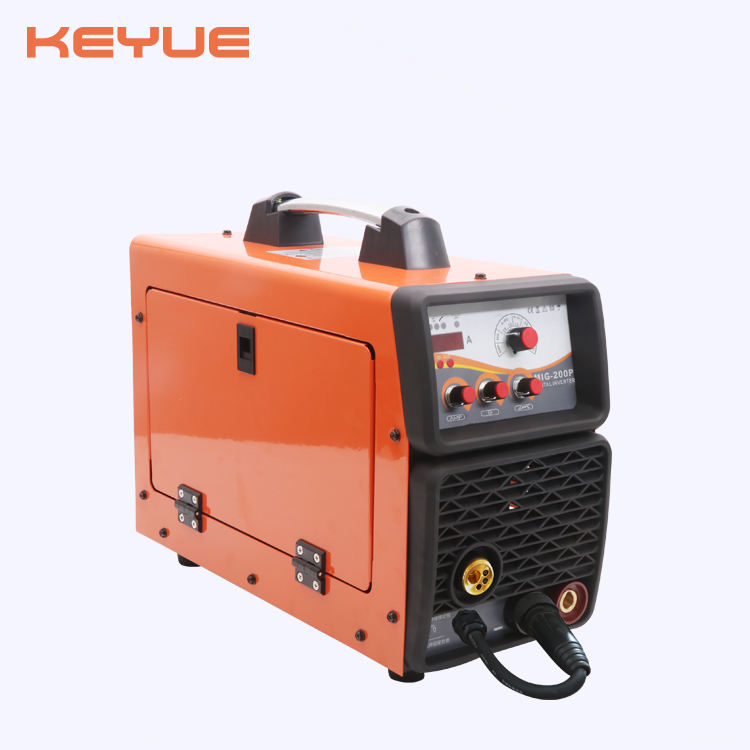 Small 5kgs closed feeder portable DC IGBT digital control 200A synegic pulse mig/mag co2 inverter aluminum welder MIG-200P