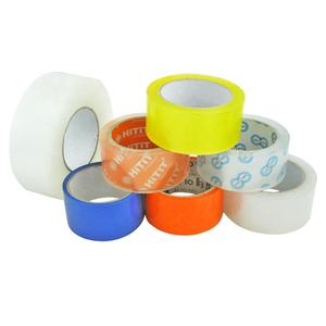 Custom Carton Box Sealing Packaging Tape Low Noise Silent Opp Bopp Yellowish Shipping Adhesive Packing Tape