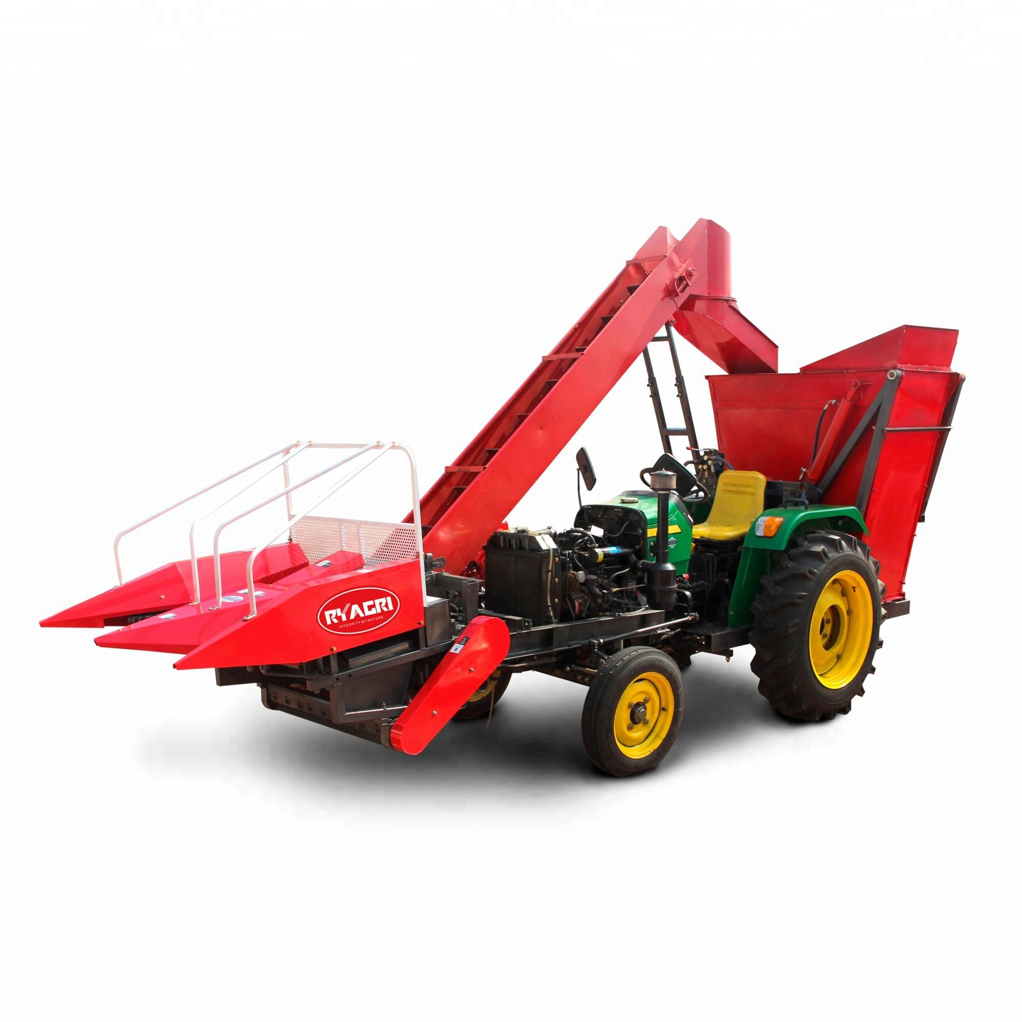 China mini sweet 2 row corn/maize combine harvester equipment small harvest machine for sale