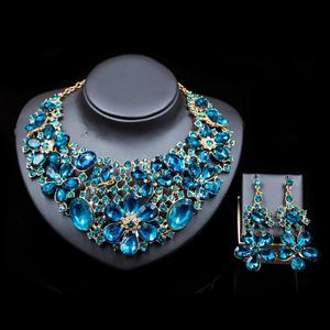 African Crystal Beads Jewelry Sets African Bridal Wedding Beads Jewelry Sets