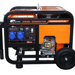 portable air cooled open type 6.5KW small diesel generator