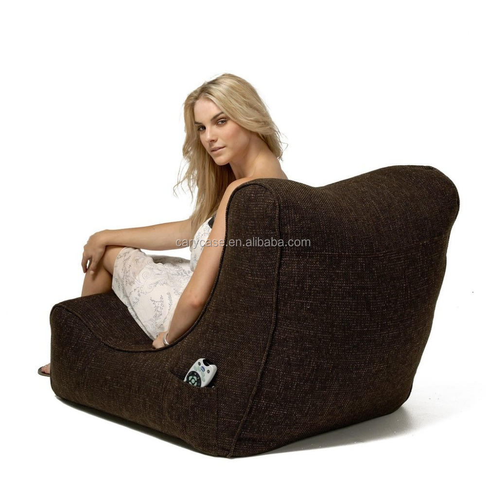 CHOCOLATE Funnelweb Compatibility back support bean bag chair, living room beanbag lounger