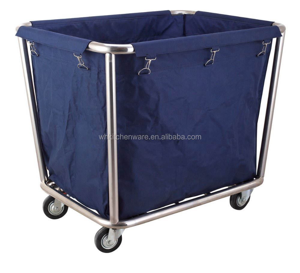 Stainless Steel Hotel Easy-assemble laundry trolley housekeeping linen trolley
